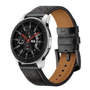 TECH-PROTECT LEATHER skórzany pasek SAMSUNG GALAXY WATCH 46MM BLACK