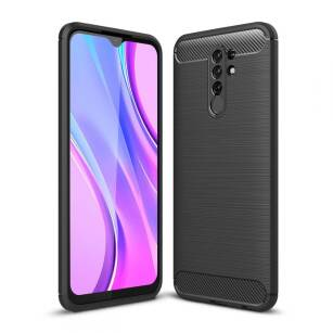 Tech-Protect TPUCarbon etui do Xiaomi Redmi 9 BLACK