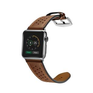 Tech-Protect LEATHER skórzany pasek do Apple Watch (42/44mm) BROWN