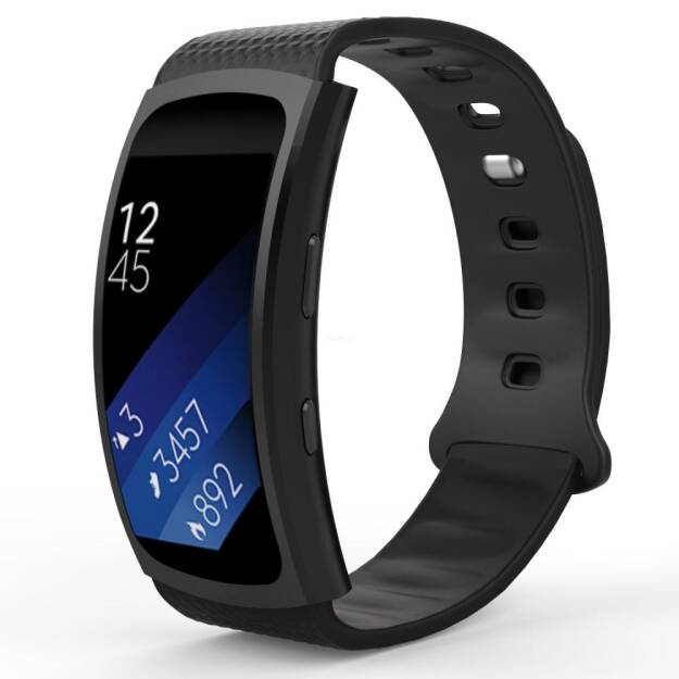 Tech-Protect SMOOTH opaska na  Samsung Gear Fit/Fit 2 Pro BLACK