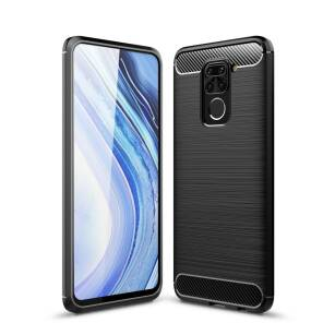 Tech-Protect TPUCarbon etui do Xiaomi Redmi Note 9 BLACK
