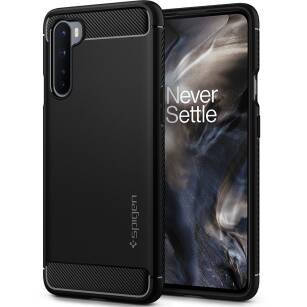 Spigen Rugged Armor etui do OnePlus Nord MATTE BLACK