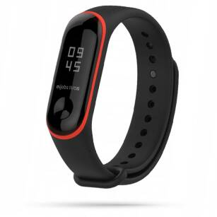 TECH-PROTECT SMOOTH sportowy pasek XIAOMI MI BAND 3/4 BLACK/RED