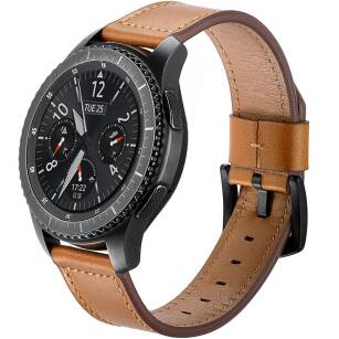 TECH-PROTECT HERMS skórzany pasek SAMSUNG GALAXY WATCH 46MM BROWN